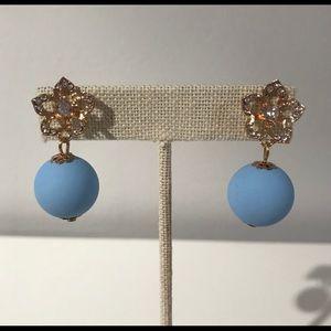 Baby blue drop earring